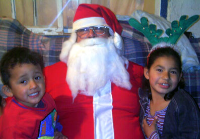 Mario, Santa,  and Alejandra