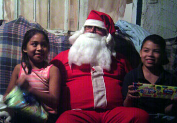Claudine, Santa and Cesar