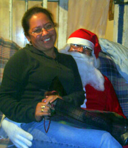 Laurita and Santa
